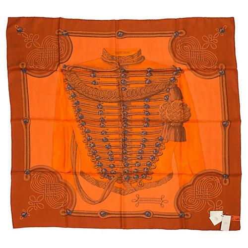 Hermès Brandebourg Orange Scarf, Latham