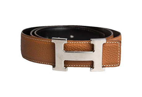Hermès Black & Gold Belt.