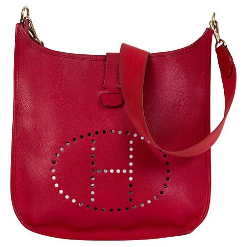 Hermès Rouge Vif Epsom GM Evelyne Bag