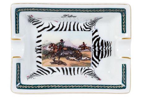 Hermès Mini Zebras Porcelain Ashtray
