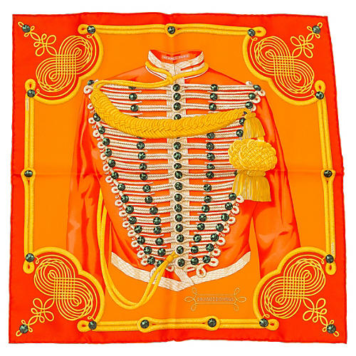 Hermès Brandenburg Orange Scarf