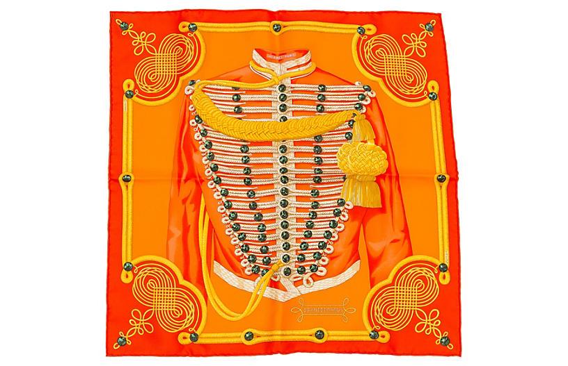 Hermès Brandenburg Orange Scarf