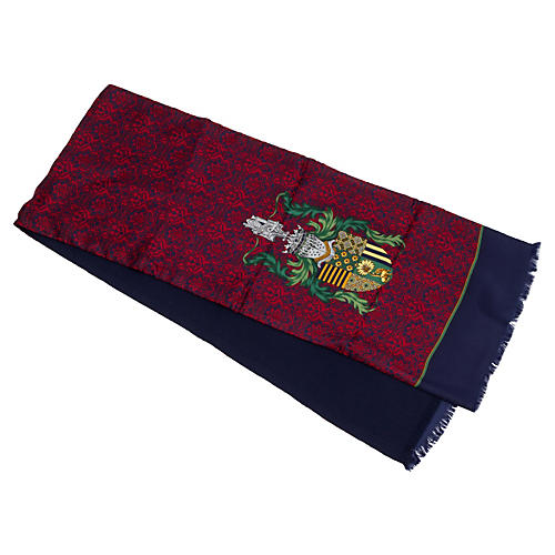Dior Double-Face Wool Silk Scarf