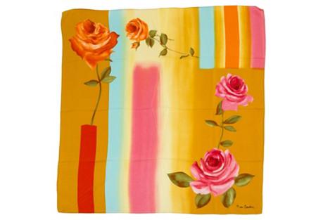 Pierre Cardin Mustard Floral Scarf
