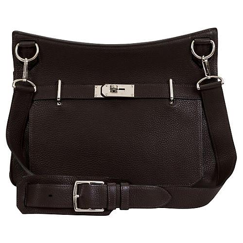 Hermès Jypsiere Brown Togo Bag Unisex