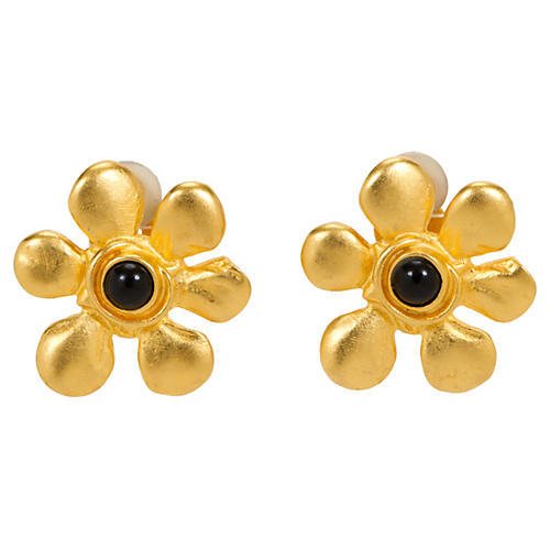 Karl Lagerfeld Floral Gold Earrings