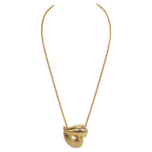 Givenchy Gold Heart Necklace/Pin