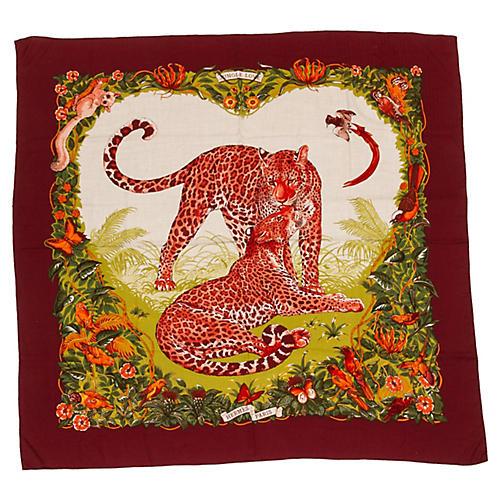 Hermès Jungle Love Cashmere shawl Dallet