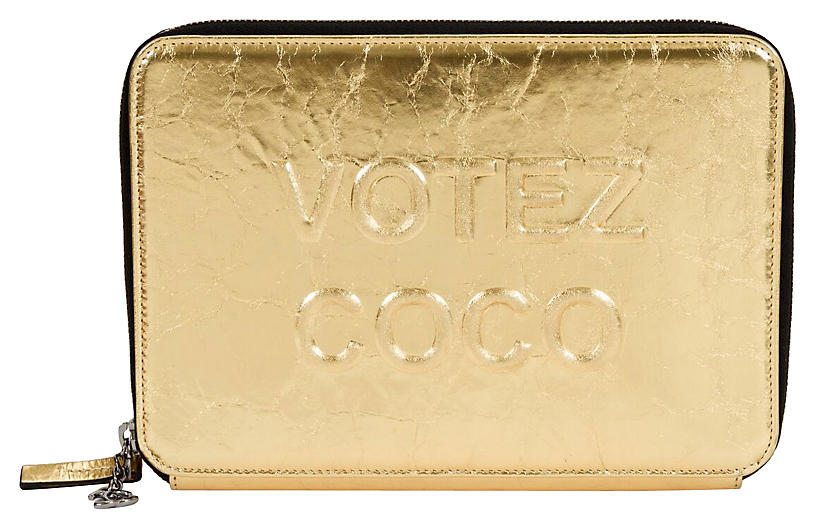 Chanel Votez Coco Gold Clutch