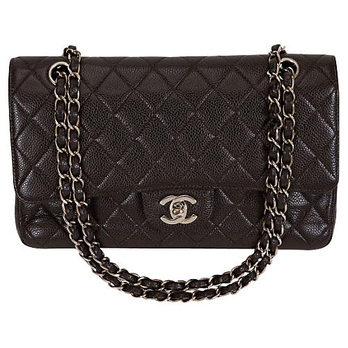 Chanel Brown Caviar Classic Double Flap