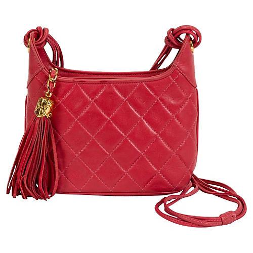Chanel Coral Tassel Shoulder Bag