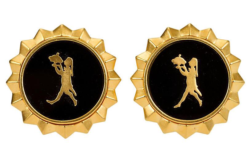 Oversize Black Karl Lagerfeld Earrings