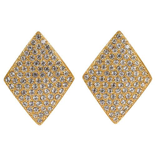 Oversize YSL Diamond-Shaped Earrings