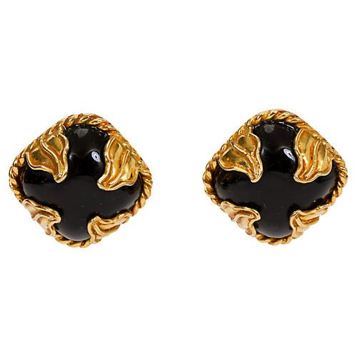 Dominique Aurientis Black Gold Earrings