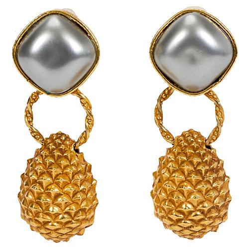 Dominique Aurientis Pearl Earrings