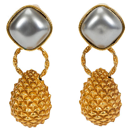 Dominique Aurientis Pearl Earrings