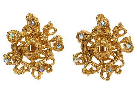Christian Lacroix AB Stone Earrings