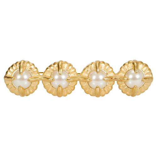 Givenchy Faux-Pearl Bar Pin