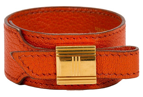 Hermès Orange Chevre Adjustable Bracelet