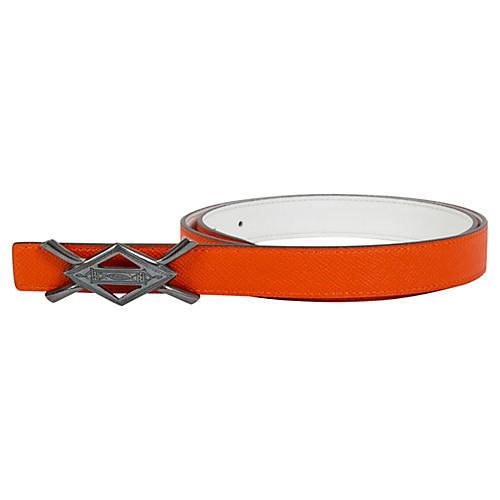 Hermès Rare Tuareg Silver Orange Belt