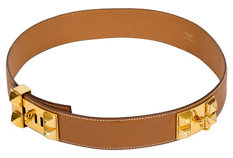 Hermès Gold Collier de Chien Belt