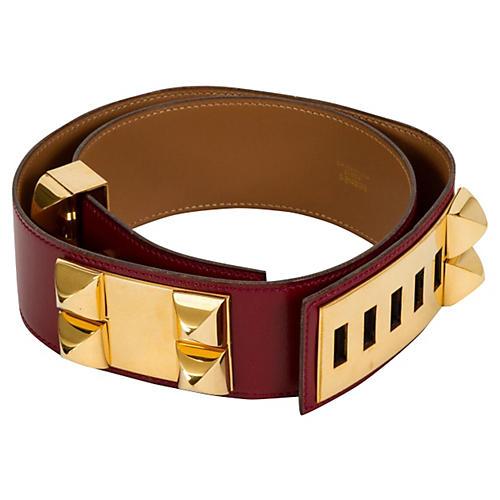 Hermès Collier de Chien Rouge H Belt
