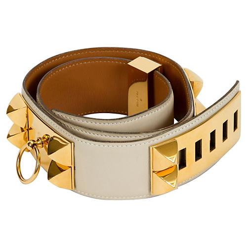 Hermès Collier De Chien Parchemin Belt