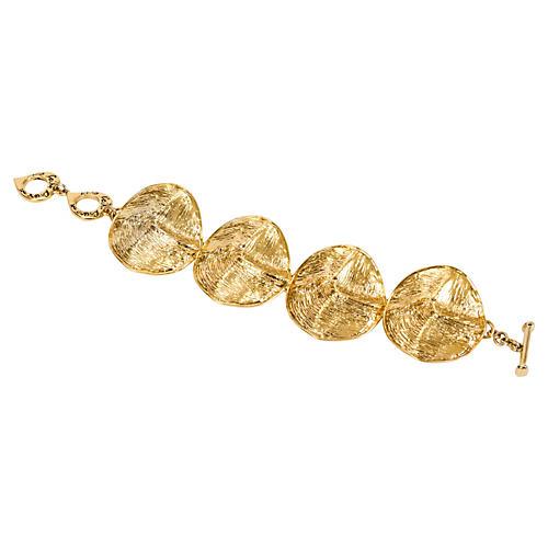 YSL Gold Disk Bracelet