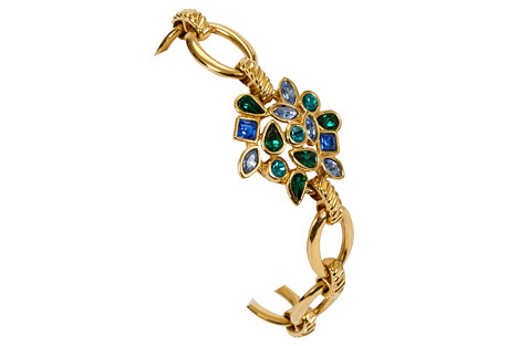 YSL Gold Mutli-Stone Bracelet