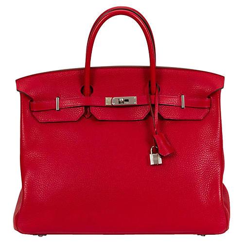 Hermès Rouge Casaque Birkin Bag 40CM