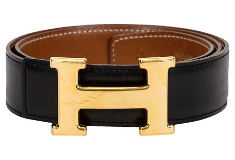 Hermès Reversible Black Gold H Belt