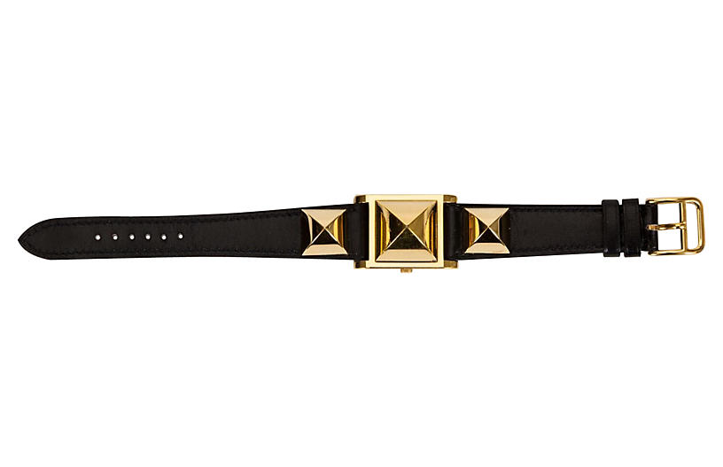 Hermès Medor Gold & Black Watch, 1996