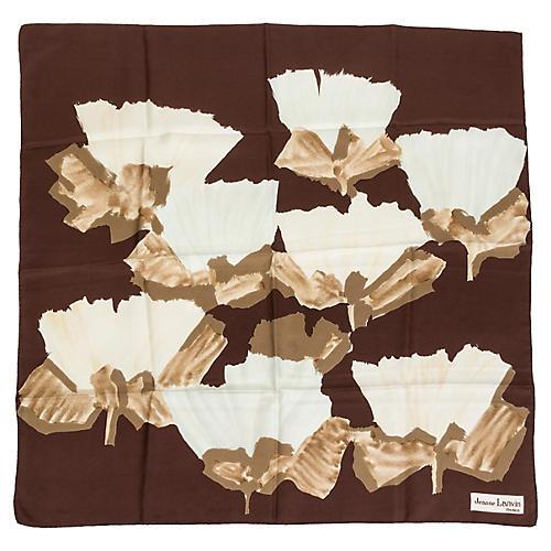 Jeanne Lanvin Silk Floral Scarf