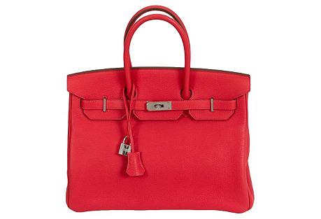 Hermès Birkin 35 Rose Jaipur Palladium