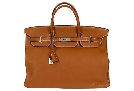 Hermès Birkin 40cm Gold Clemence Bag