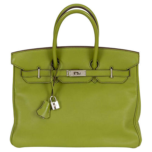 Hermès 35cm Vert Anis Swift Birkin