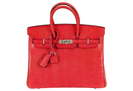 Hermès Rouge Lizard 25cm Birkin Bag