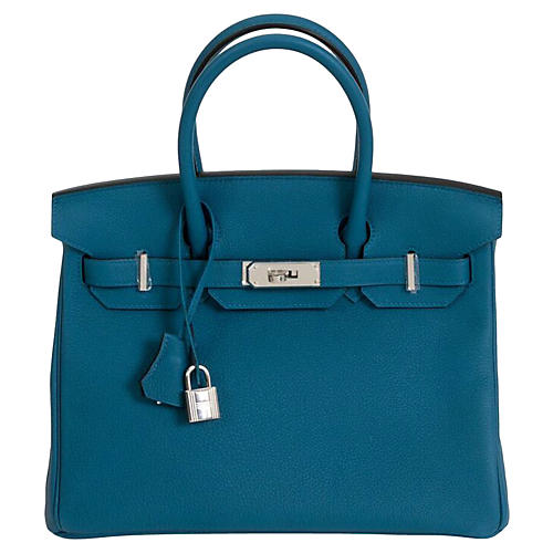 Hermès 30cm Blue Togo Birkin Bag