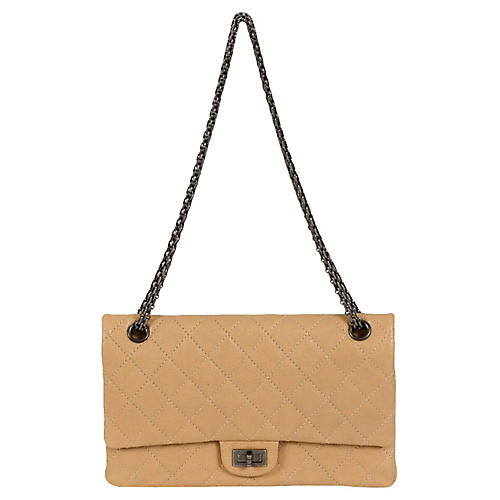 Chanel Beige Caviar Jumbo Bag