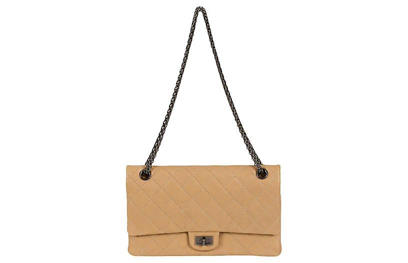 Chanel Beige Caviar Jumbo Bag