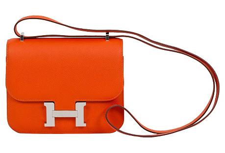 Hermès Feu Epsom Constance Bag