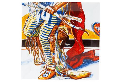 Hermès Les Danses Des Indiennes Plate