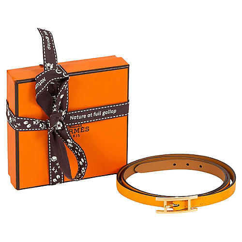 Hermès Yellow Wrap Bracelet