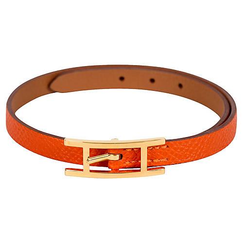 Hermès Orange Epsom Wrap Bracelet
