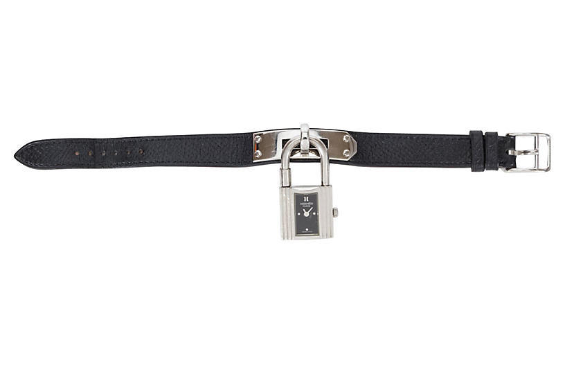 Hermès Black Epsom Kelly Watch