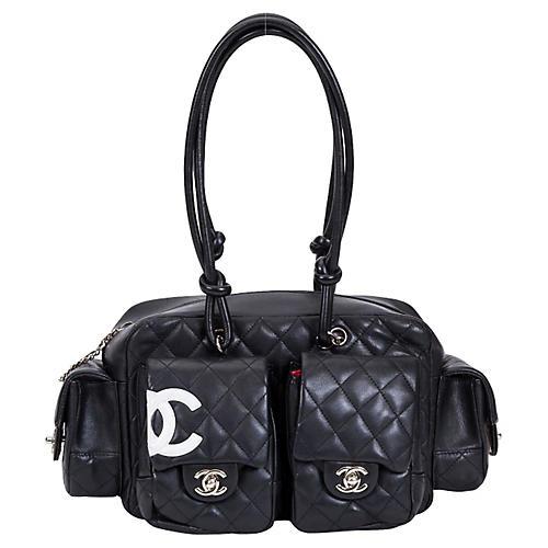 Chanel Black Reporter Shoulder Bag