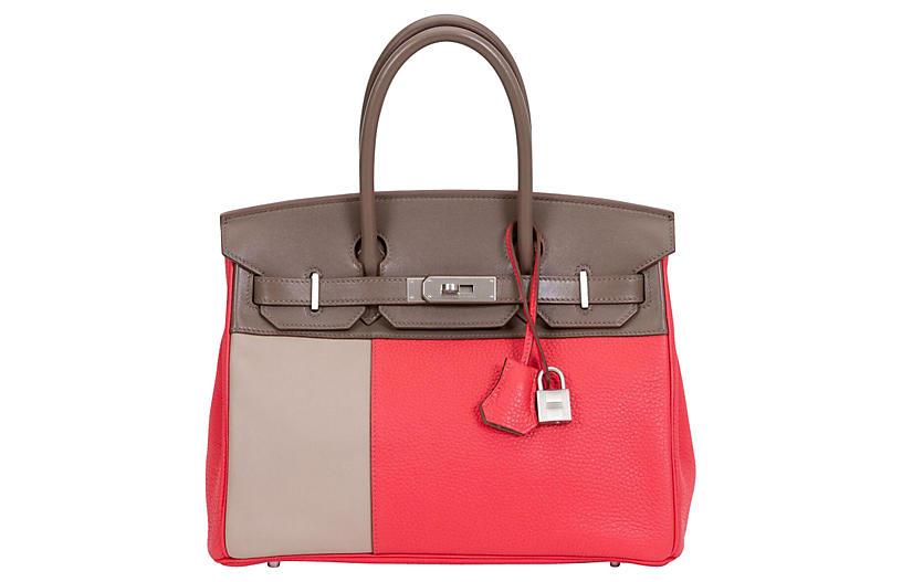 Hermès Ltd. Tricolor Birkin 30cm