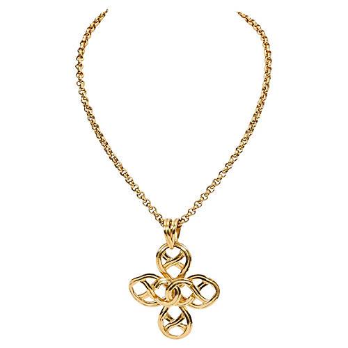 Chanel Clover Logo Necklace, 1996