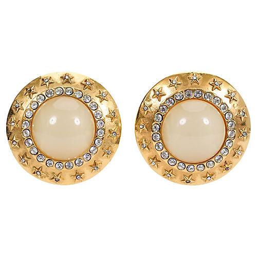 1980s Chanel Oversize Gripoix Earrings