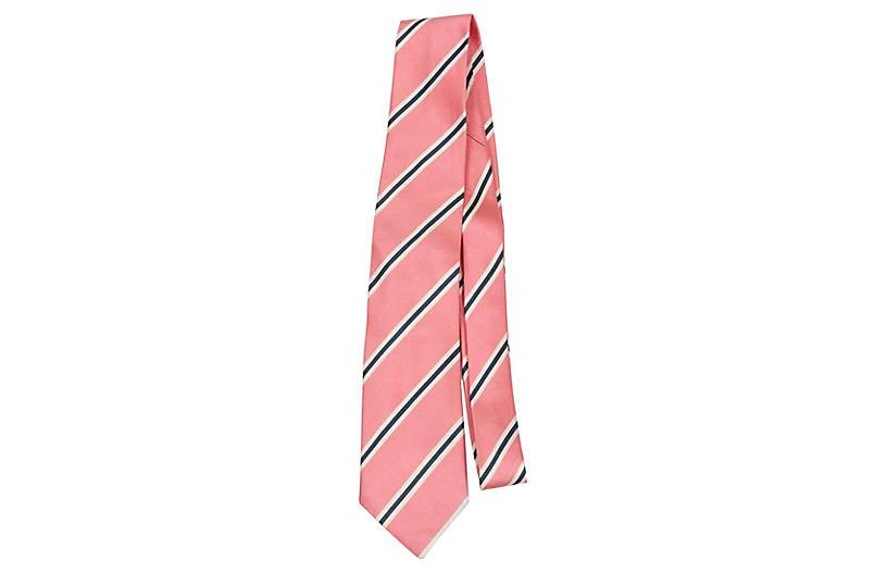 Yves Saint Laurent Pink Stripe Tie